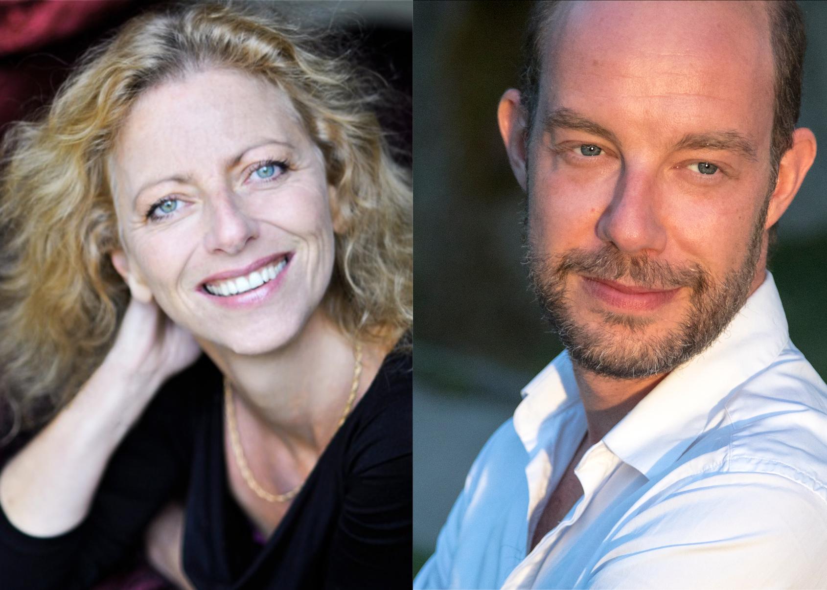Portrait de Isabelle Gazonnois et Olivier Balazuc, artistes accueillis en résidence de création au Moulin du Roc, Scène nationale à Niort