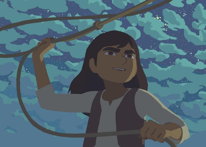 Illustration d'un fille tenant un lasso. Image pour CALAMITY, film d'animation à découvrir en famille au cinéma du Moulin du Roc à Niort