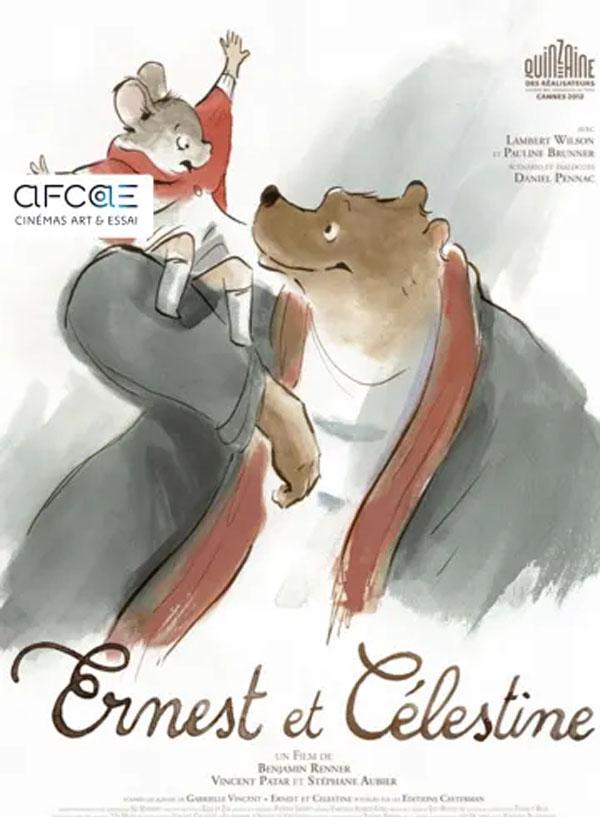 Affiche du film Ernest et Célectine programmé par le cinéma du Moulin du Roc à Niort