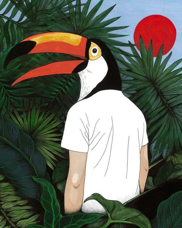 Illustration de l'artiste Ramó, programmé par le Festival Nouvelle(s) Scène(s) et Le Moulin du Roc, Scène nationale à Niort.