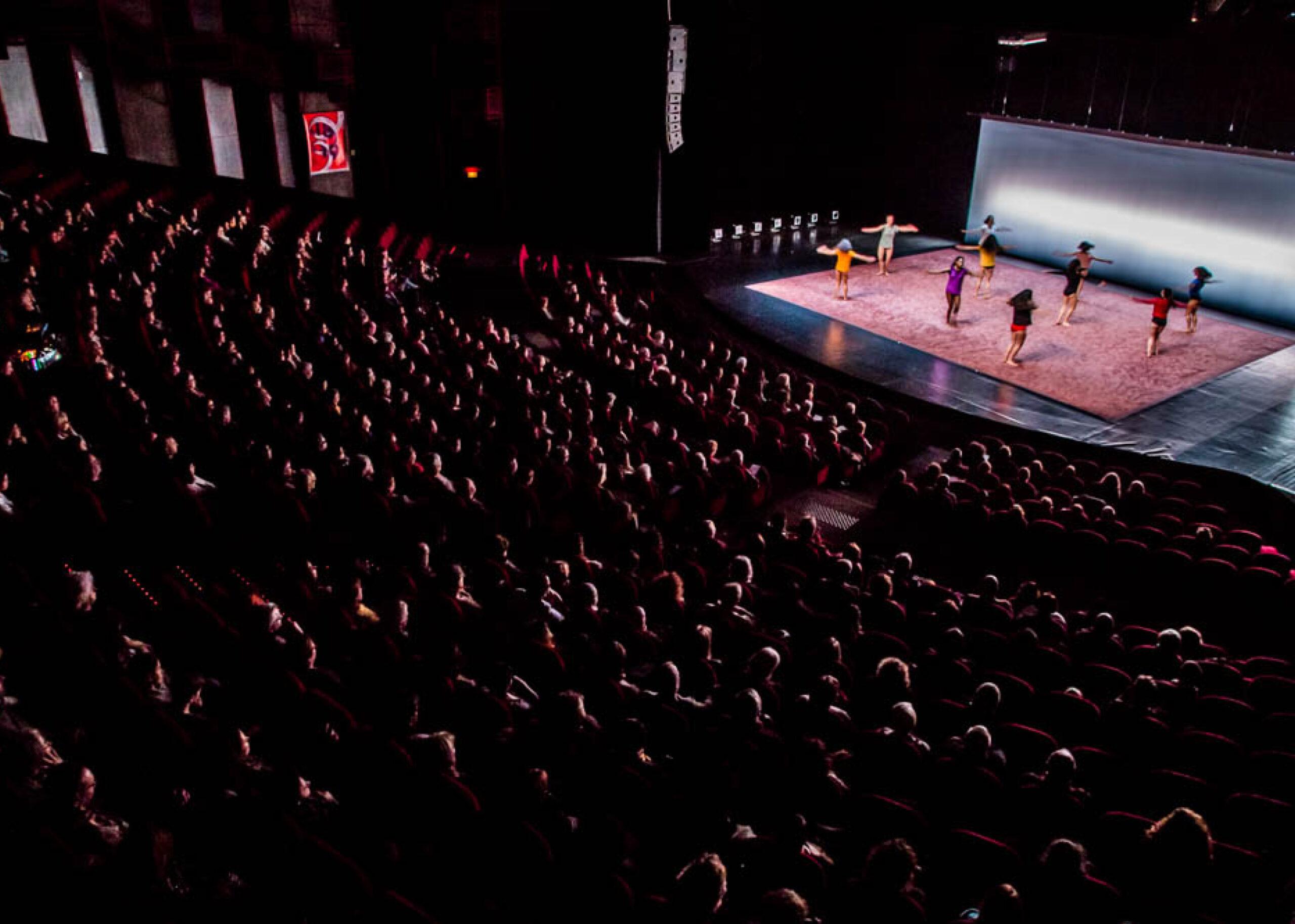 Le Grand Théâtre du Moulin du Roc à Niort pendant le spectacle de danse The Sea within