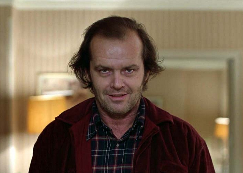 portrait de Jack Nicholson dans Shining