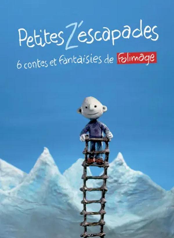 Affiche du programme de courts-métrages Petites z'escapades programmé par le cinéma du Moulin du Roc à Niort